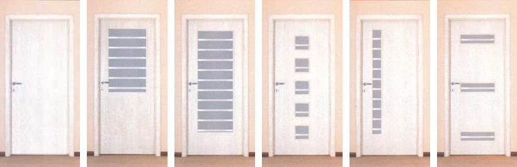 Sobna vrata – bela – tanja folija SVS10